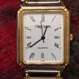 Vintage gold/silver Oleg Cassini watch